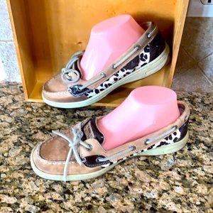 Sperry Topsider shoe women's size 8.5 leopard skin